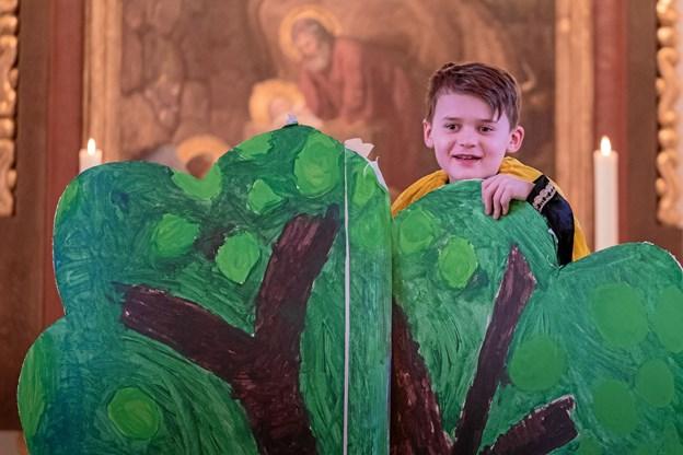 """Skagen kirke har givet hverdags Børne - og Familiegudstjenester et nyt navn, der signalere, hvad arrangementet handler om: Om """"Gud"""" og om """"spaghetti"""".  Privatfoto."""