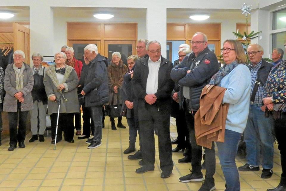 Venner, kolleger og kirkegængere deltog i sammenkomsten. Foto: Kirsten Olsen Kirsten Olsen