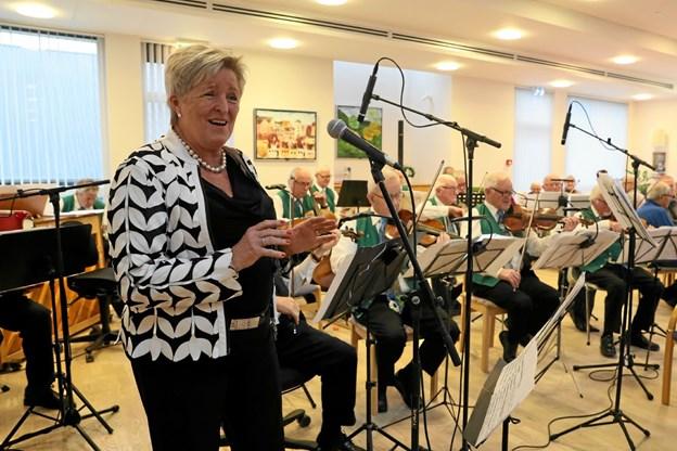 Hanna Vig sang for på vokal. Foto: Allan Mortensen