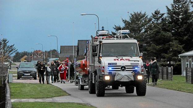 Optoget på vej gennem Aggers gader. Foto: Hans B. Henriksen Hans B. Henriksen