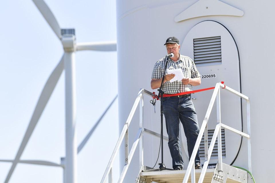 Indvielse af den nye vindmøllepark ved Handest Hede.