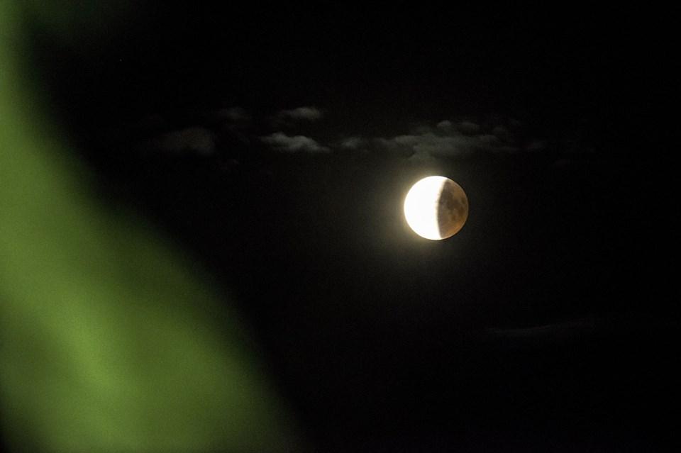 Blodmåne Blodmåne og måneformørkelse set ved Herslev vest for Roskilde, 27. juli 2018. Mads Claus Rasmussen/Ritzau Scanpix/Ritzau Scanpix