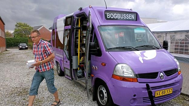 Den lilla bogbus kører efter efterårsferien ikke længere til Hune, Ingstrup og Bonderup. Arkivfoto: Anders Andersen