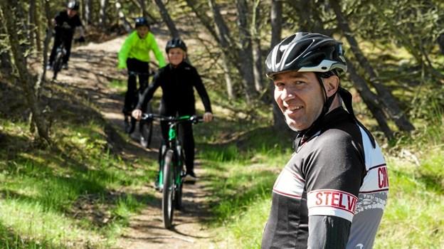 Nyt MTB spor i Skagen Klitplantage, spørger Ronnie Toft, som er en af initiativtagerne bag det nye MTB spor. Foto: Peter Jørgensen Peter Jørgensen