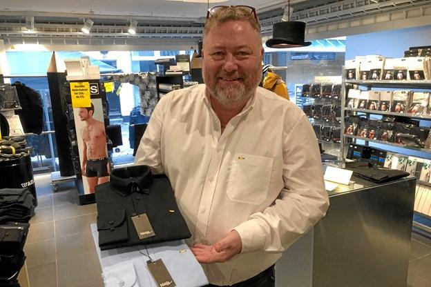"""Niels """"Blyant"""" Pedersen er klar med sin egen tøjkollektion. Foto: Carsten Hougaard"""