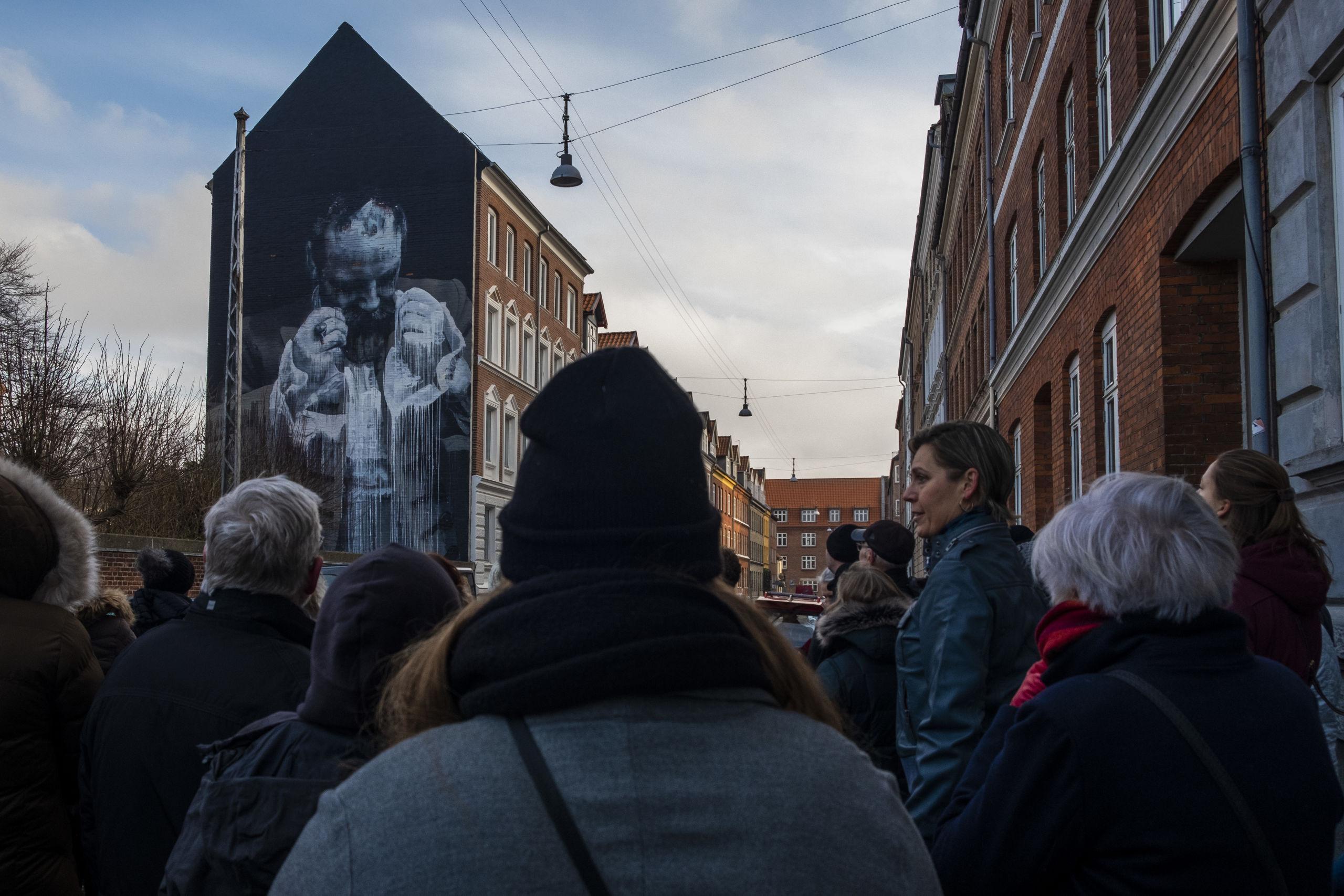 Her er det Conor Harringtons værk i Helgolandsgade. Foto: Lasse Sand