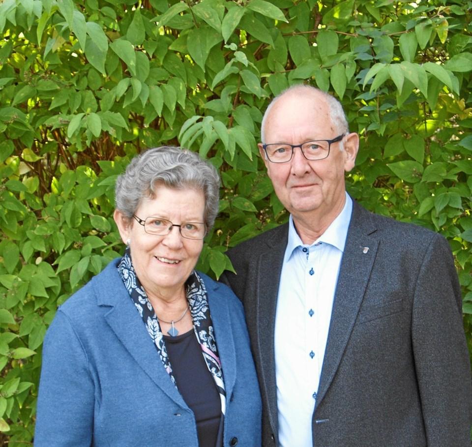 Solvejg og Gunnar L. Hansen fejrer 15. marts guldbryllup.Privatfoto