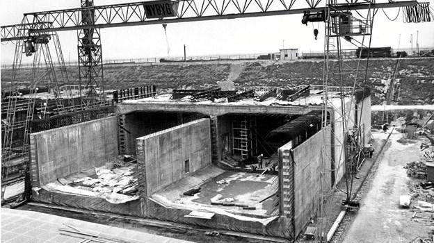 Byggeriet af Tunnelen var på alle måder markant. Den var nemlig landets første motorvejstunnel. Arkivfoto