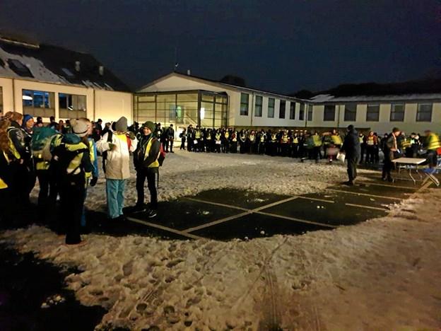 Den lokale skole i Gistrup var rammen om det store løb. Foto: Privatfoto Privatfoto
