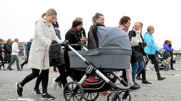 Mange benyttede også muligheden for en rask travetur for den gode sag. Foto: Martine Mortensen Skov Foto: Allan Mortensen