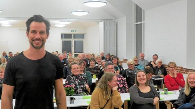 Glade forventninger til en veloplagt Christian Bitz. Foto: Kirsten Olsen