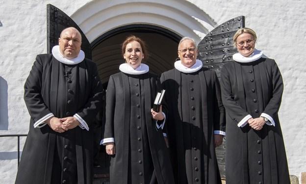 Sct. Catharinæ Kirkes svar på de fantastiske fire ...?Foto: Kim Dahl Hansen Foto: Kim Dahl Hansen