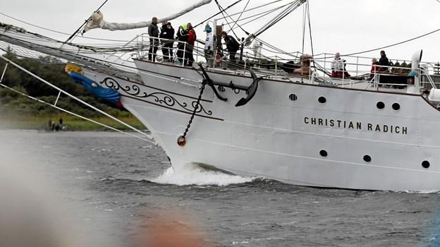 De smukke skibe tog afsked. Foto: Allan Mortensen Allan Mortensen