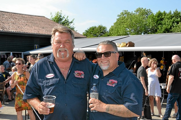 Per Karmark og Brian Grønhøj, indehavere af The Old Service Station, og arrangører af Rock'N'Rold. Foto: Jesper Bøss