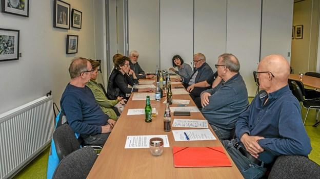 10 medlemmer var op til den årlige generalforsamling i Lanternens Venner. Foto: Mogens Lynge