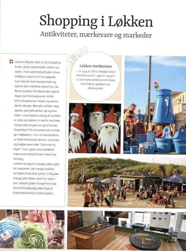 Typisk opbygget side med dansk tekst og med teksten på tysk og engelsk på den følgende side. Privatfoto xx