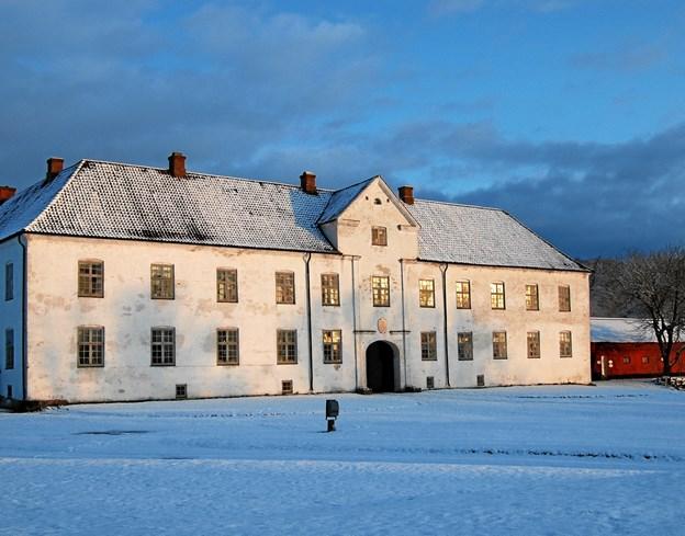 Vinterstemning ved Børglum Kloster. Privatfoto