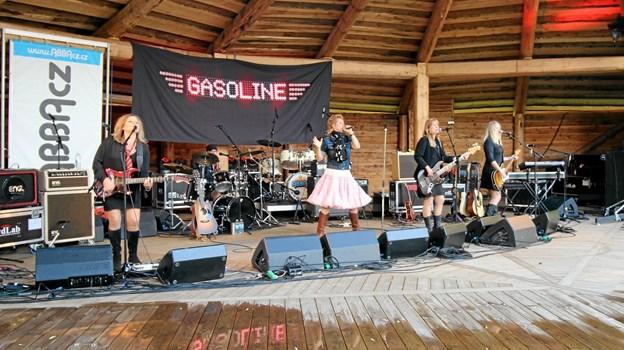 """Pigebandet """"Gasoline"""" gav et brag af en koncert med numre fra det legendariske band Gasolin. Foto: Jørgen Ingvardsen Jørgen Ingvardsen"""