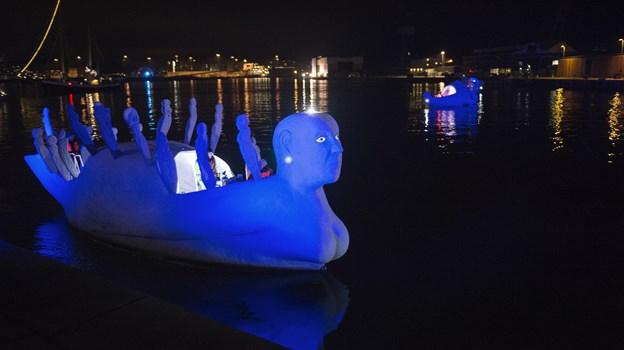 Lifeboats her foreviget ved åbningen af Europæisk kultur hovedstad Aarhus i 2017 foto: Hans Ravn
