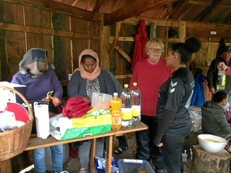Frivillige fra Sydthy Røde Kors og Dansk Flygtningehjælp, Thisted, deltog også.Privatfoto