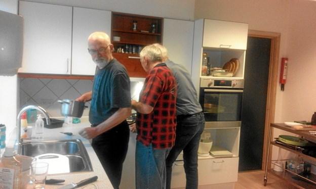...også selvom opvasken også skal tages... Foto: Privat Privat