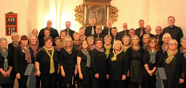 Als-Øster Hurup Kirkekor - gæsteoptræder søndag i Stenild Kirke. Privatfoto