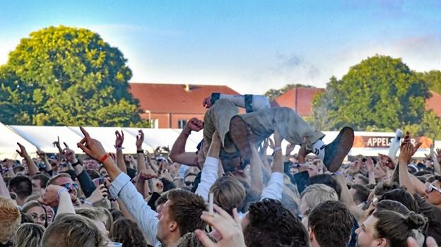 Den hurtigste måde at krydse festpladsen på, da SUSPEKT fyrede den af. Foto: Ole Iversen Ole Iversen