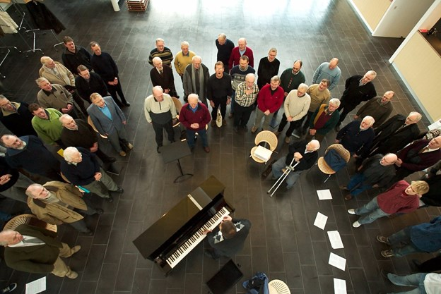 For 14 år siden blev Det Musiske Hus indviet med et stort korsangstræf.  Håbet er at man 16. marts kan give sangen vinger på gymnasiet på akkurat samme måde. Arkivfoto Kim Dahl Hansen