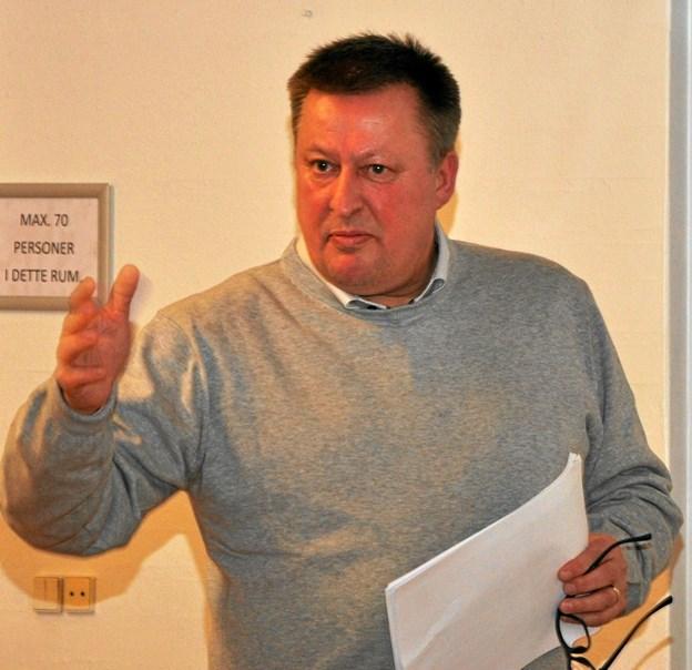 Dennis Kvesel er formand for styregruppen, og det var tydeligt at mærke på mødet, at han brænder for sagen.Foto: Ole Torp