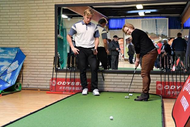Golfsatsningen kom på skinner i september sidste år.Foto: Bent Bach BENT BACH