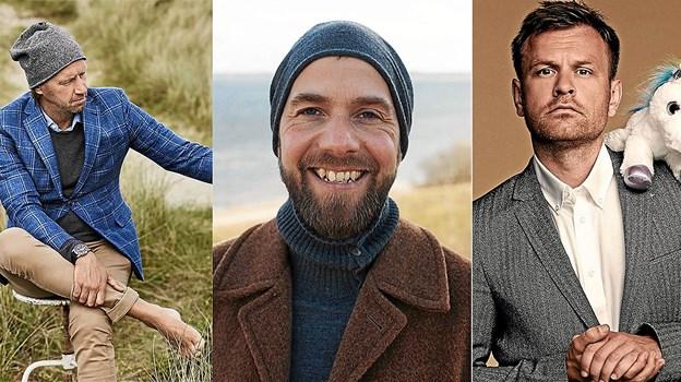 Anders Agger, Søren Vester og Christian Fuhlendorff er på Skyum Idrætsefterskole henover vinteren.Pressefoto