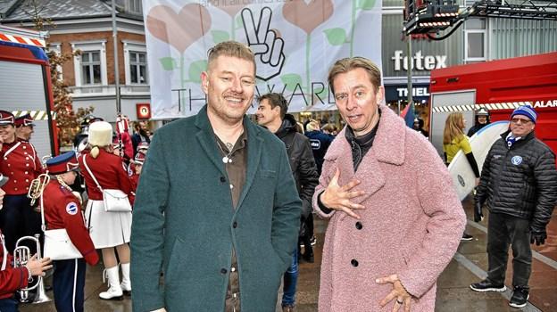 "Det bliver helt sikkert en aften med en ""masse hygge"" - når de to værter Morten Manaa og Brian Lykke kæder Thy Awards 2019 sammen i Thy Hallen 1. februar. Foto: Ole Iversen Ole Iversen"