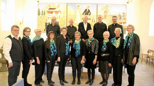 Den årlige julekoncert har som sædvanlig Frederikshavn Bykor i centrum. Privatfoto