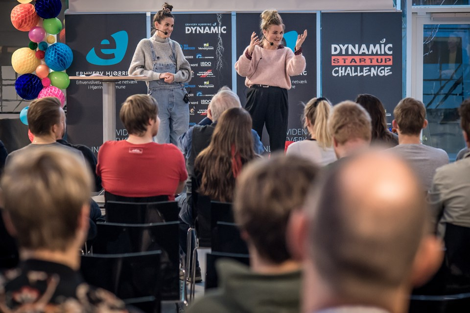 Liv Martine og Simone Thorup vandt Dynamic StartUp Challenge 2018 og fik penge og rådgivning til at gøre Kagetid.dk til virkelighed. Arkivfoto: Martin Damgård