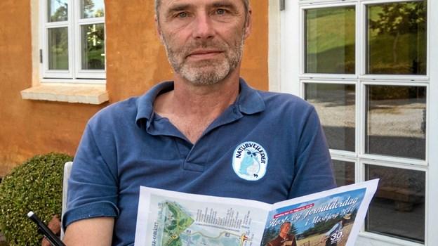 Den 11. juni mødes deltagerne hos naturvejleder Jakob Kofoed på hans ejendom i Astrup, hvor han vil guide Stigruppen rundt i den spændende natur. Foto: Niels Helver Niels Helver