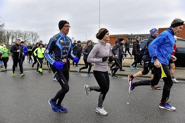 Man kunne i Sjørring løbe alle de omgange af 5 km - man havde lyst til.Foto: Ole Iversen Ole Iversen