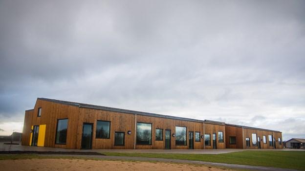 Daginstitutionen Rådyret i Støvring Ådale er opført som et bæredygtigt træhus, der blev indviet 1. februar. Foto: Martin Damgård