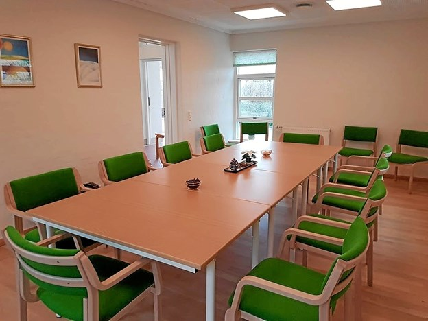 Det nye lyse og venlige mødelokale. Foto: Karl Erik Hansen Karl Erik Hansen