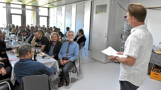 Trods Niels Cassøe Jepsen ikke kendte Holgers historie på skolen, så var det ikke svært at finde anekdoter frem til talen. Ole Iversen