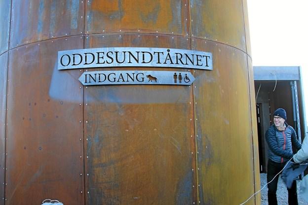 Så blev navnet på tårnet afsløret. Foto: Hans B. Henriksen Hans B. Henriksen