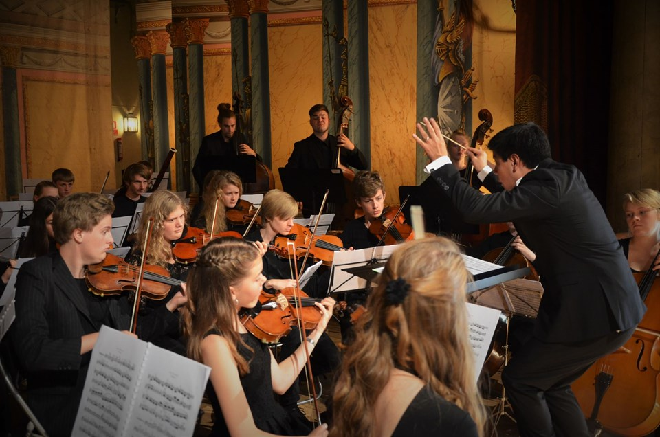 Orkestret er sammensat af unge musikalske talenter. Foto: Aalborg Kulturskole