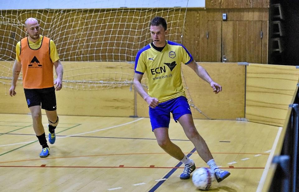 Peter Sørensen i opgøret mod Vestthy, som endte 5-5. Foto: Ole Iversen Ole Iversen