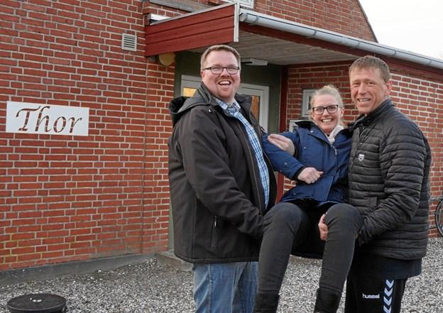 Morten Hald, Charlotte Christensen og Karsten Gade klar til en nyt år med Thor. Foto: Jan Thøgersen.