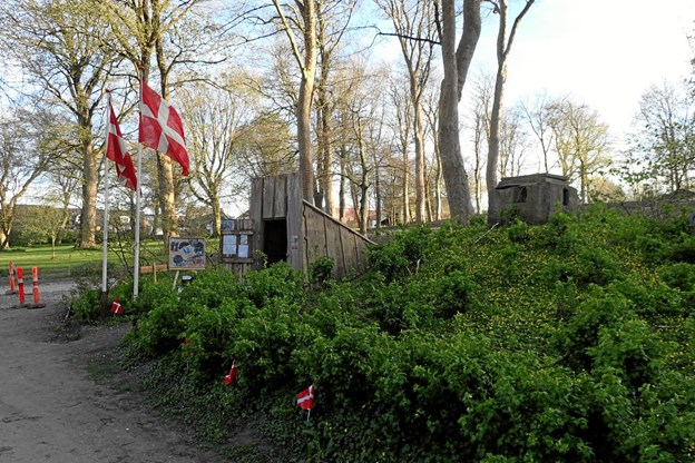 Tidligere år har Besættelseshistorisk Selskab for Thy og Vesterhanherred markeret 4. maj i en bunker i Christiansgave.Foto: Jens Andersen