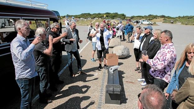 Brygmester Kent Boalth fortæller gæsterne om de nye øl. Foto: Peter Jørgensen Peter Jørgensen