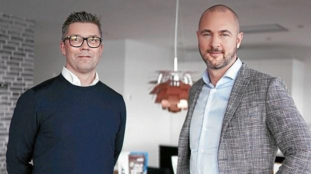 Direktør Kenneth Halvorsen (tv) og stifter af Bodylab i Hadsund, Rasmus Thorup Andersen. Foto privat.