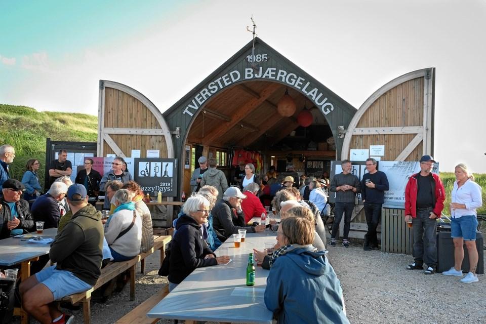 Tversted Bjærgelaug lagde atter hus til Jazzy Days præsentation af musikprogrammet til efterårsferiens jazzfestival.  Privatfoto