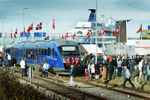 Der har stor kundetilfredshed med Nordjyske Jernbaner. Billedet er fra starten på af NJs regionale togdrift. Arkivfoto: Kurt Bering