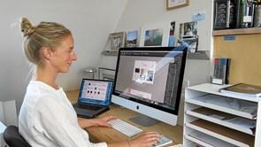 Plakat designer har startet eget firma