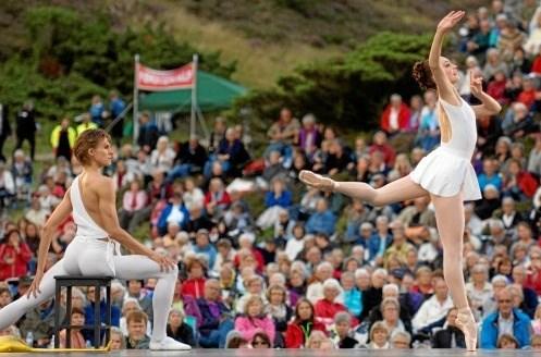 Fra Den Kongelige Ballets seneste besøg i Rebild Bakker i 2012. Foto: Anne Mette Welling